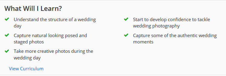 Wedding photography courses online
