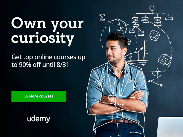 Learn New Skills With Curiosity sale on Udemy