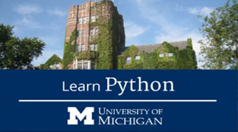 learn python on coursera from Michigan university