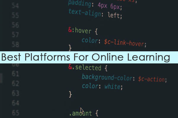 best websites platforms for online learning